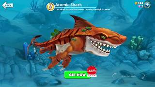 hungry shark world, atomic shark (3D Motion)