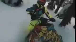 Снегоход опасен.