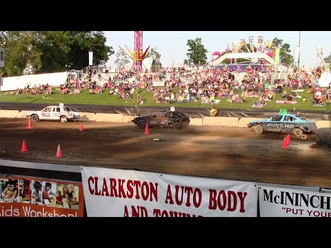 Small Car Off Road Races Round 1 At Night Of Destruction Oakland Fair 2015 Camera 1