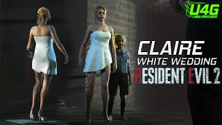 Claire White Wedding Outfit Gameplay and Cutscenes 1440p60