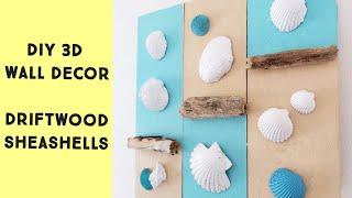 Coastal Decor DIY / DIY Driftwood & Seashells Decor Idea / Home Decor On A Budget
