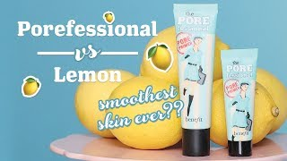 Watch us put our iconic POREfessional face primer to the test… literally! We're proving the power of our pore-minimizing, shine fighting primer – all you need is a small amount to transform oily skin into a matte & poreless complexion! It's so good, even a lemon won't stand a chance! Comment down below with your primer hacks, benebabe!   SHOP THE VIDEO: the POREfessional face primer: http://bit.ly/2dJjBla  CHECK US OUT ON SOCIAL Instagram:  http://www.instagram.com/benefitcosmetics Snapchat: benefitbeauty Facebook:  http://www.facebook.com/benefitcosmetics Twitter: http://www.twitter.com/benefitbeauty