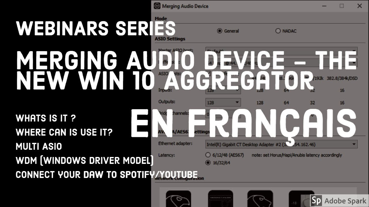 Le nouveau Merging Audio Device: l'aggregateur pour Windows 10