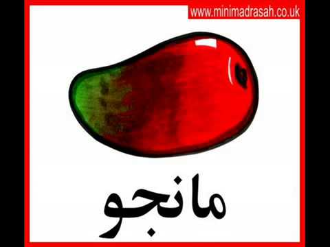 Fruits in Arabic-English