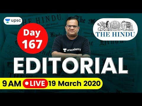 UPSC CSE 2020   The Hindu Editorial Analysis for IAS Preparation by Ashirwad Sir   19 March 2020