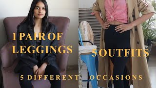 Wear Your BASIC BLACK LEGGINGS On Different OCCASIONS:Winter Edition// Vedantika Varma