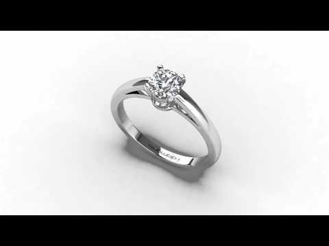 solitaire diamant à griffes