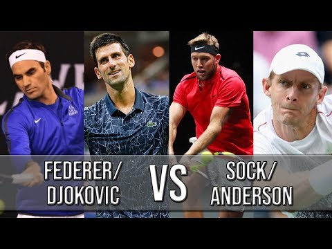 FedererDjokovic Vs SockAnderson - Laver Cup 2018 (Highlights HD)