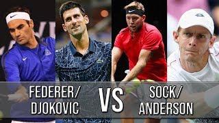 Federer/Djokovic Vs Sock/Anderson - Laver Cup 2018 (Highlights HD)