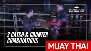 Muay Thai Catch And Counter | Petmuangchon Por Suantong's 3 Dominant Combinations