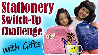 Mystery BOX - Stationery SWITCH-UP Challenge | #Fun #Kids #CuteSisters