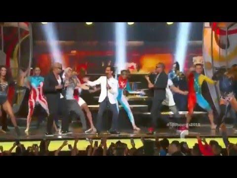 Gente de Zona ft  Marc Anthony La Gozadera en los Premios Billboard 2015
