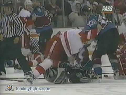 Patrick Roy vs Mike Vernon
