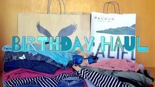 Birthday Haul (American Eagle, Brandy Melville,Pacsun)
