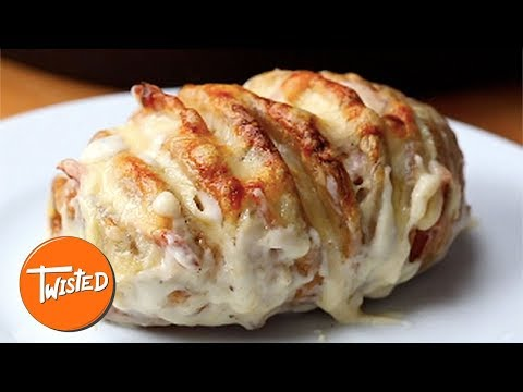 Croque Monsieur Hasselback Potatoes Recipe | Easy And Quick Meals | Cheesy Potato Recipes | Twisted