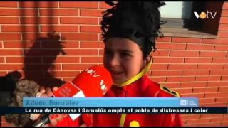 preview picture of video 'VOTV - La rua de Cànoves i Samalús omple el poble de disfresses i color'