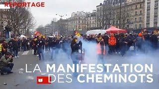 Reportage à la manifestation des cheminots Gare de l'Est