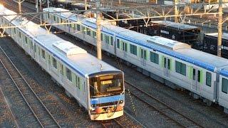 【新車 甲種輸送】 東武UPL(野田線) 60000系 61611F+61612F 甲種輸送 熊谷貨物ターミナル到着 61611F+61612F分割シーン