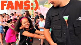 Toys AndMe Fans Conga Dance Challenge KIDS REACT! Hanazuki Meet And Greet