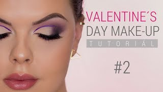 AKO NA VALENTINE´S DAY LOOK Tuttorial #2 | Purple Half Cut Crease Eye Make-up