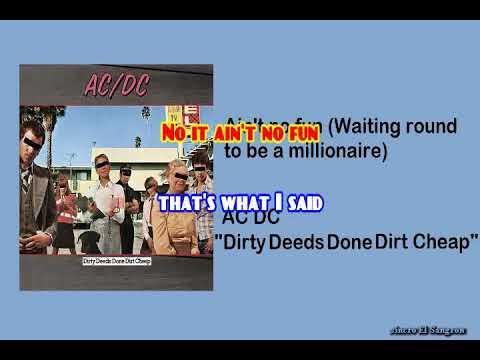 KARAOKE AC DC - AIN'T NO FUN WAITING ROUND TO BE A MILLIONAIRE