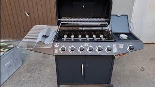 El Fuego Gasgrill »Dayton 6Plus1«, 7 Brenner, 17,3 kW Lidl