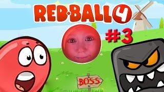 RED BALL 4 Красный Шарик vs Черный Квадрат Мрачная Фабрика BOX FACTORY Gameplay