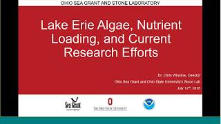Stone Lab Guest Lecture: 2018 Lake Erie Harmful Algal Bloom Forecast