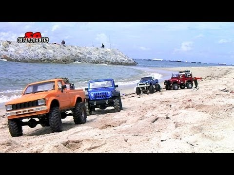 16 Trucks Beach Trail: Land Rover Defender Dingo Honcho Trail Finder 2 Ford Hilux Wild Willy