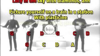 Lucy In The Sky With Diamonds The Beatles best karaoke instrumental lyrics chords