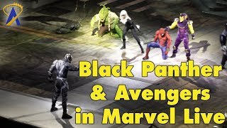 Black Panther and Avengers save Spider Man in Marvel Universe Live