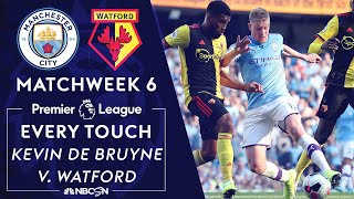 Every touch from Kevin De Bruyne's historic performance in 8-0 win v. Watford | NBC Sports