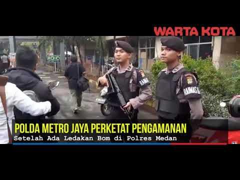 Polda Metro Jaya perketat pengamanan setelah ada bom medan