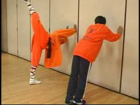 Shaolin Kung Fu Stretches & Moves : Back Kick in Shaolin Kung Fu