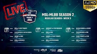 🔴[LIVE - HD 1080P] ICON (MY) vs AEROWOLF (ID) | MOBILE STAR LEAGUE (MSL) SEASON 2 | WEEK 3 DAY 1