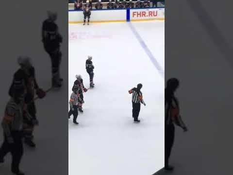 Хоккеисты всей командой избили судью