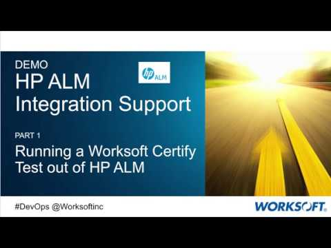 Worksoft Certify Integration with HP ALM - YouTube