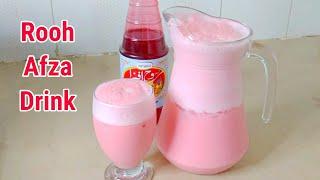 Rooh Afza Soda Drink Recipe   Refreshing Rooh Afza Drink   Ramadan Special Drink Recipe