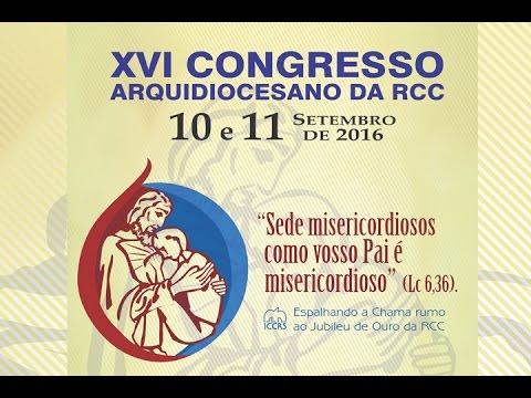 Convite de Lidiane Cunha para o XVI Congresso Arquidiocesano da RCC