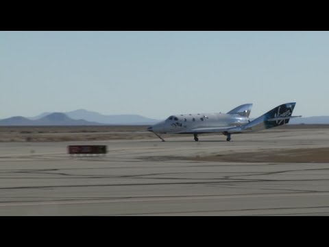 Virgin Galactic says its rocket plane has reached space for a second time in a test flight over California. The spacecraft carried two pilots, and a third crew member to evaluate the cabin from a passenger perspective. (Feb. 22)