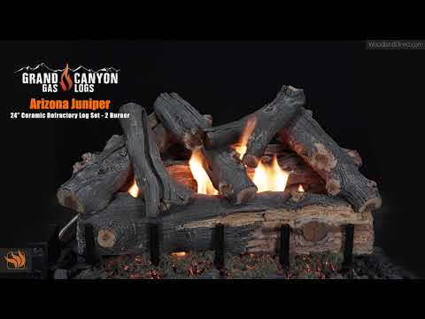 "Arizona Juniper 24"" Gas Log Set - 2 Burner"