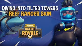 Diving Into Tilted Towers With New Reef Ranger Skin!! - Fortnite Battle Royale Gameplay - Ninja