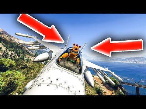 CAN UN-NIGHTMARE FREDBEAR FLY AN ARMY JET LIKE A BOSS?!! (GTA 5 MODS