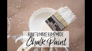Make Your Own DIY Chalk Paint (Easy Homemade Chalk Paint Recipe)
