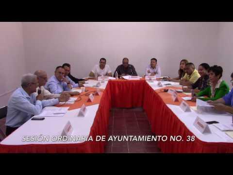 Sesión ordinaria No 38 de Ayuntamiento 5 de julio de 2017