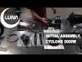 Assembly of the cyclone 3000w mid drive