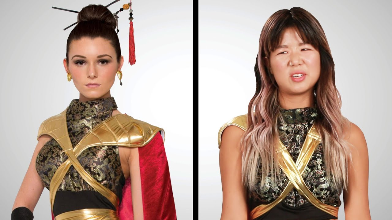 "Asian Americans Try ""Asian"" Halloween Costumes thumbnail"