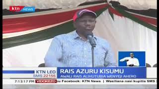 Rais Uhuru na Kiongozi wa ODM Raila wazuru Kisumu, wasisitiza ummoja nchini
