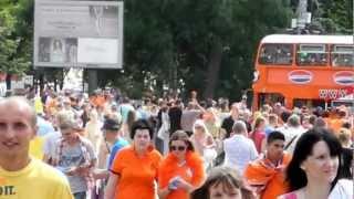 Kharkiv mensen. Holland Euro 2012 fans
