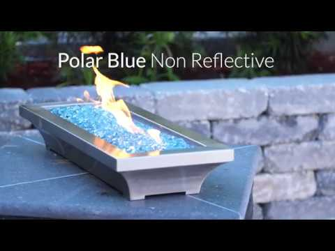 Polar Blue Non-Reflective Fire Glass | Lakeview Outdoor Designs